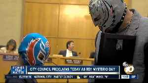 News video: Wrestler Rey Mysterio honored by San Diego City Council