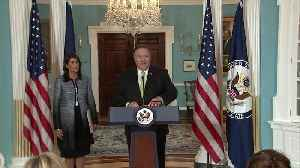 Pompeo's, Haley's full statements on U.S. withdrawal from U.N. Human Rights Council