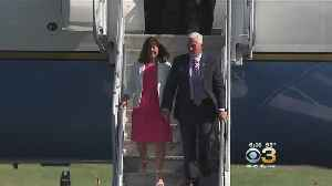 Vice President Pence Arrives To Protests Ahead Of GOP Fundraiser In Philly