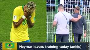 News video: Neymar Leaves Training LIMPING! Is He Out? | 2018 FIFA World Cup