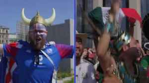 News video: Battle of the fans: Iceland v Mexico