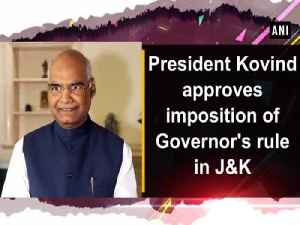 News video: President Kovind approves imposition of Governor's rule in J&K