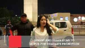 Janhvi And Ishan Head To Jaipur For Dhadak's Promotion