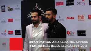 Irfan Pathan And Kl Rahul Attend Femina Miss India Red Carpet  2018 [Video]