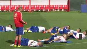 Russia take to the pitch after qualifying for World Cup knockout stages