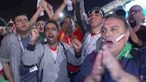 Iran fans happy with performance, Spain fans dissapointed despite victory