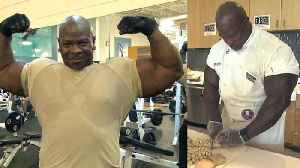 News video: Meet the Musclebound Army Veteran Who's Now a Chef at the White House