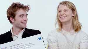 Robert Pattinson & Mia Wasikowska Answer the Web's Most Searched Questions [Video]