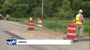 News video: NEXUS pipeline construction puts a hole in the road, traffic closed