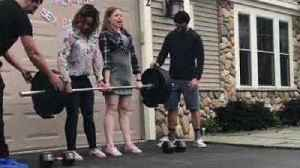News video: Fitness Hobbyists Perform Weightlifting Gender Reveal