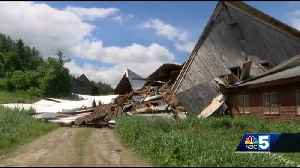 Microburst destroys 100-year-old Waitsfield barn