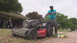 Man Mowing Lawns Across US Makes Stop In Dallas