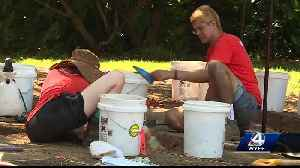 News video: Clemson students braving the heat to dig up the past