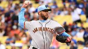 News video: Giants' Hunter Strickland Breaks Pitching Hand Punching Door in Frustration