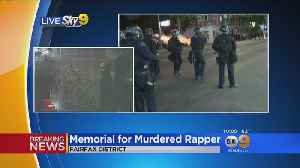 News video: LAPD Fire Nonlethal Rounds To Disperse Crowds Gathered For Rapper XXXTentacion Memorial