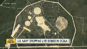 News video: Navy dropping live bombs in Fla. national forest