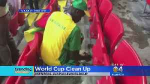 Trending: World Cup Fans Pick Up Their Own Trash After Match