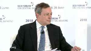 Draghi Says ECB `Confident' Inflation Is Converging Toward Its Goal [Video]