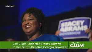 Biden Backs Abrams In Closely-Watched Georgia Race