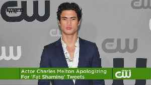 'Riverdale' Star Charles Melton Apologizes For Fat-Shaming Tweets
