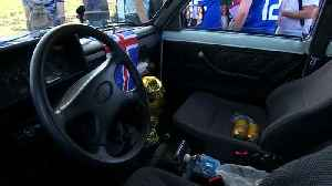 From Iceland to Russia - two fans drive to World Cup in a Lada