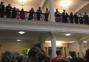 Hundreds Rally At Massachusetts Capitol Against Trump's Immigration Policy
