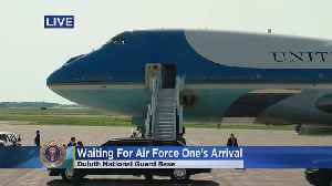 Donald Trump Arrives In Duluth For 'MAGA' Rally