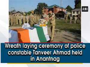 Wreath laying ceremony of police constable Tanveer Ahmad held in Anantnag