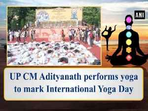 UP CM Adityanath performs yoga to mark International Yoga Day