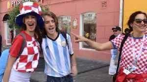 Scenes of love and friendship between Argentina and Croatia fans ahead of big night in Nizhny