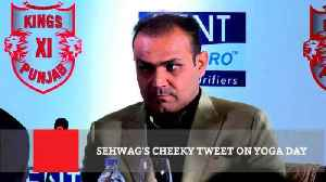 Sehwag's Cheeky Tweet On Yoga Day