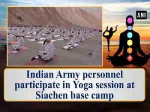 Indian Army personnel participate in Yoga session at Siachen base camp [Video]