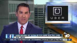 Uber drivers get extra $1 for using electric cars