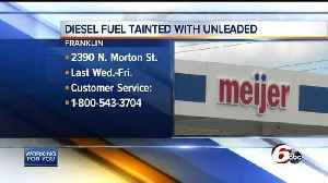 Unleaded fuel mixed with diesel at Franklin Meijer