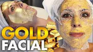 Trying the 24k Gold Celebrity Facial?!