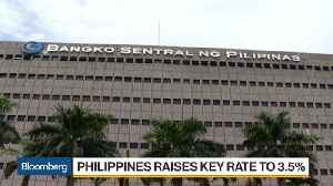 Philippine Central Bank Raises Key Rate for Second Month