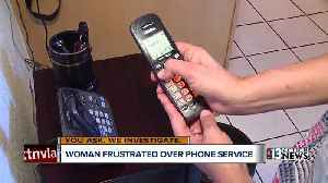 Woman frustrated by landline phone service outage in her area