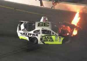 Father Jumps on Track to Pull Son From Burning Car After Race Crash