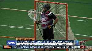 Lacrosse players of all ages play for 24 hours to benefit veterans