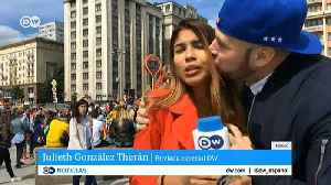 World Cup reporter groped and kissed on air