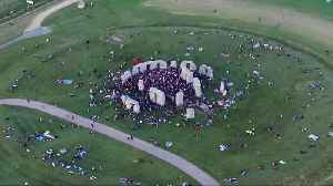 Drone footage shows summer solstice celebrations at Stonehenge