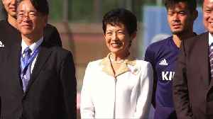 Princess Takamado keeps close eye on Japan's training