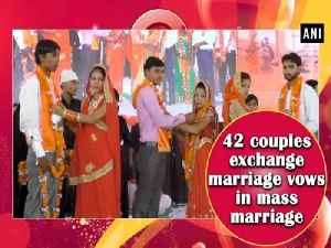 42 couples exchange marriage vows in mass marriage