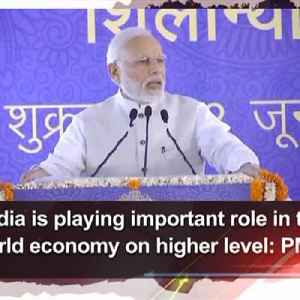 India is playing important role in taking world economy on higher level: PM Modi