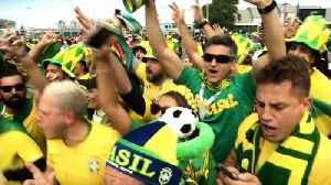 Fan excitement at fever pitch ahead of Brazil, Costa Rica game