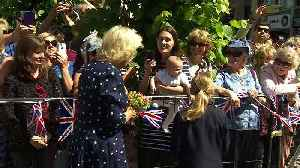 Prince Charles and Camilla receive warm welcome in Salisbury