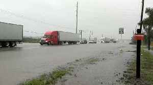 Flash Flooding Slows Down Traffic in Southern Texas