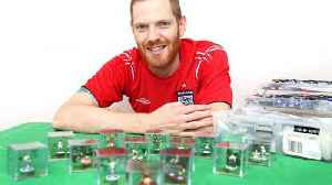 Miniature heroes! Football fan painstakingly recreates iconic World Cup scenes using subbuteo figures