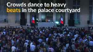 France's Macron turns Elysee Palace into dance floor