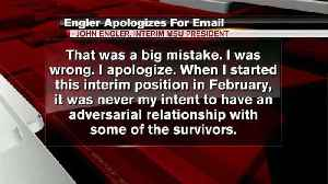 Engler issues apology for email comments